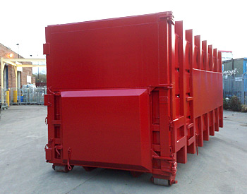 Hook lift & Cable lift compaction container