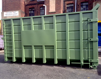 Open Waste Container