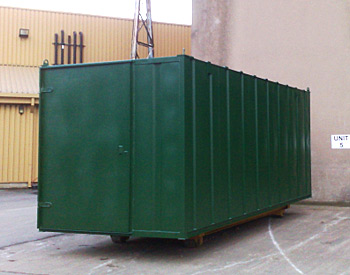 On site storage container