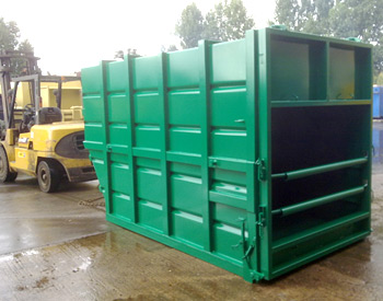 Skip Lift Compaction Container